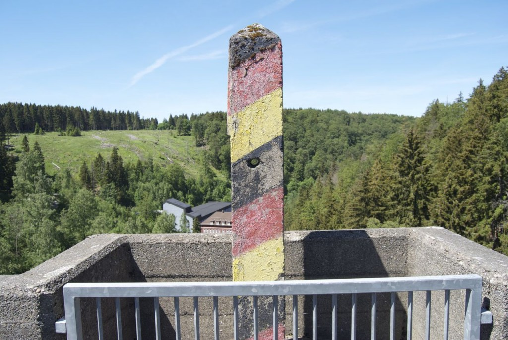 Grenzstein an der Eckertalsperre